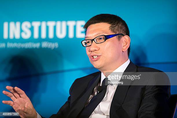 Lim Chow Kiat chief investment officer of GIC Pte gestures as he speaks at the Milken Institute Asia Summit in Singapore on Friday Sept 19 2014 Chief...