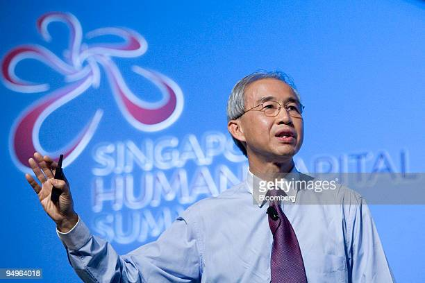 Lim Eng chief executive officer of NCS Group speaks at the Singapore Human Capital Summit in Singapore on Tuesday Sept 29 2009 The Singapore Human...