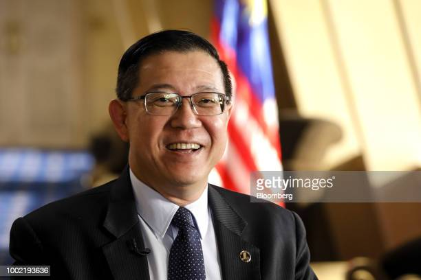Lim Guan Eng Malaysia's finance minister speaks during a Bloomberg Television interview in Putrajaya Malaysia on Thursday July 19 2018 Malaysia...