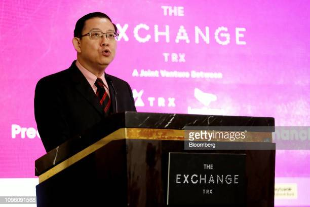 Lim Guan Eng Malaysia's finance minister speaks during an event marking the launch of the Exchange TRX precinct in Kuala Lumpur Malaysia on Tuesday...