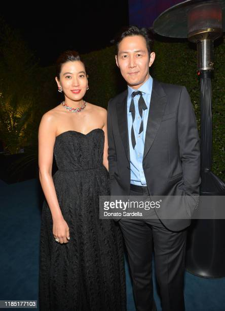 Lim Sae Ryung and Lee Jung Jae attend the 2019 LACMA Art Film Gala Presented By Gucci at LACMA on November 02 2019 in Los Angeles California