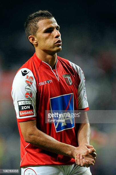 Lima of SC Braga in action during the Portuguese Primeira Liga match between SC Braga and SC Olhanense held on October 23 2010 at the Estadio Axa in...