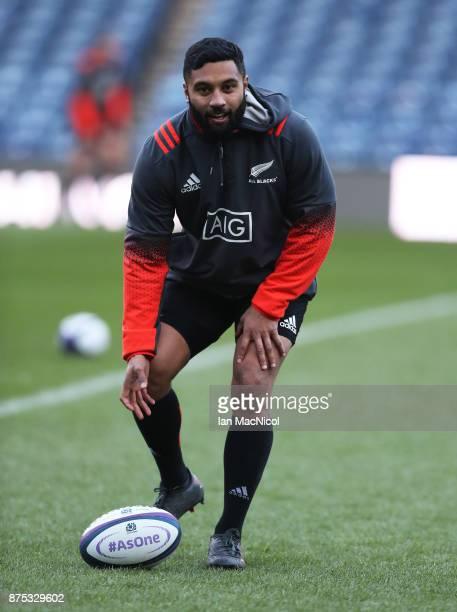 Lima Sopoaga of New Zealand is seen during the Captains Run at Murrayfield Stadium on November 17 2017 in Edinburgh Scotland