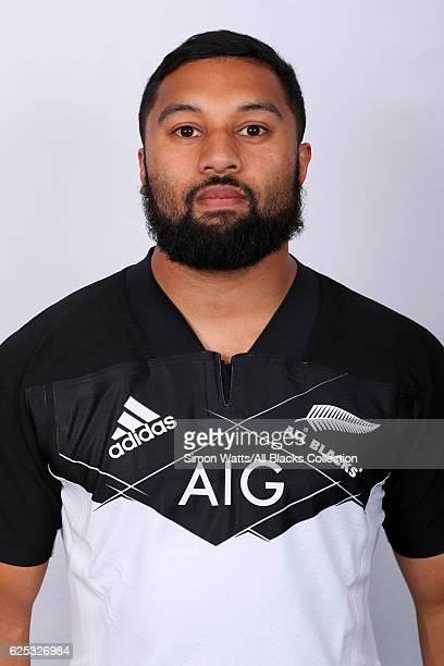 Lima Sopoaga poses during the All Blacks End of Year Tour 2016 Headshots Session at Auckland International Airport Novotel on October 28 2016 in...