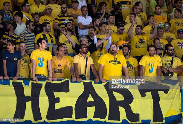 Limassol fans during the Cypriot First Division match AEL Limassol FC and APOEL FC at the Tsirion Stadium on May 17 2014 in in Limassol Cyprus