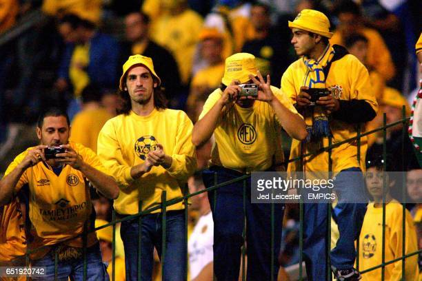 AEL Limassol fans keep a close eye on the action during the game against Ferencvarosi