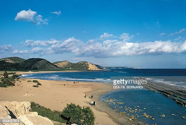 Limassol or Lemesos beach Cyprus