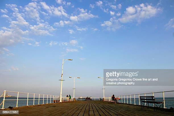 limassol pier - gregoria gregoriou crowe fine art and creative photography stock pictures, royalty-free photos & images