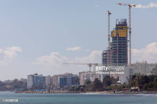 Limassol skyline on February 28 2019 in Limassol Cyprus