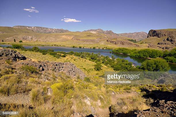 limay river, patagonia argentina - radicella stock photos and pictures