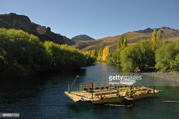 limay river, patagonia argentina - radicella stockfoto's en -beelden