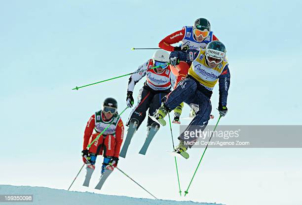 Limbacher Andrea of Austria Berger Sabbatel Marie of France Emilie Serain of Switzerland Katrin Mueller of Switzerland compete during the FIS...