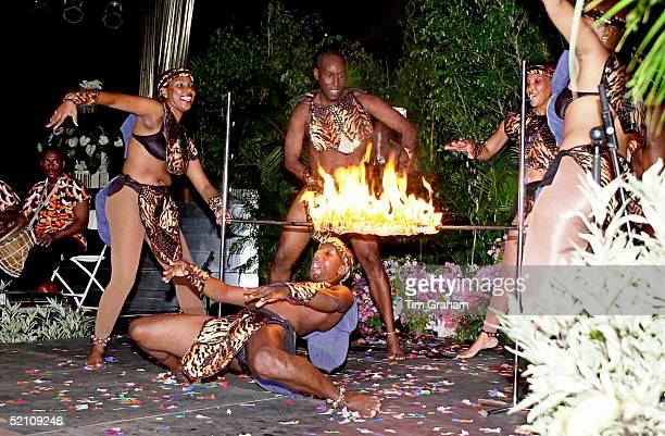 Limbo Dancers Entertaining Prince Charles On His Visit To Trinidad And Tobago