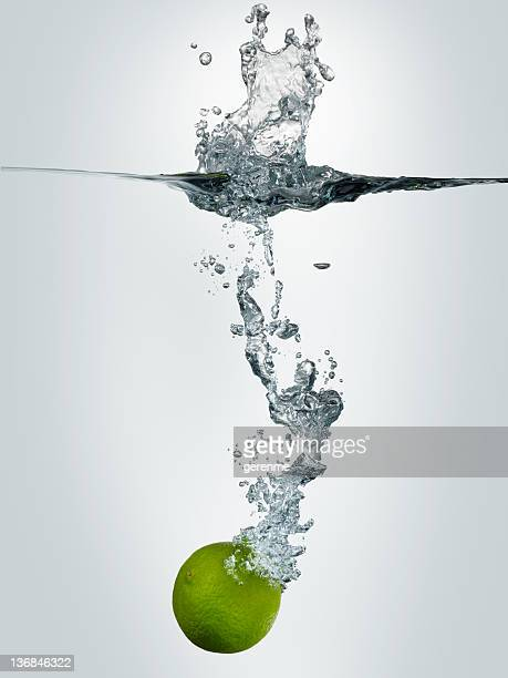 Lime Falling In Water