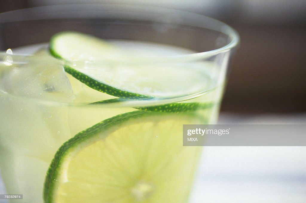 Lime juice, close-up : Stock Photo
