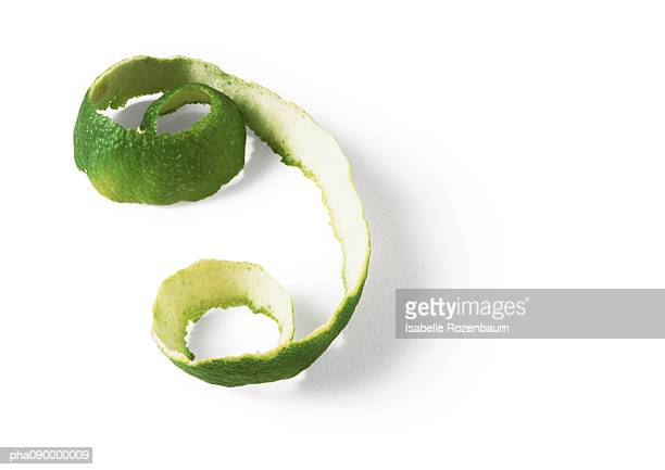 Lime peel, white background