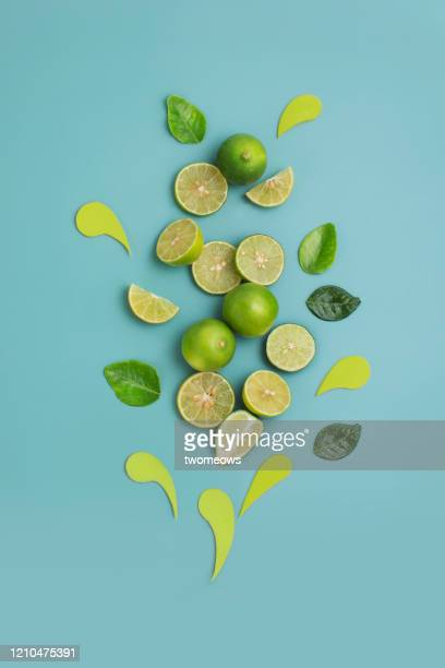 lime still life image. - lime stock pictures, royalty-free photos & images