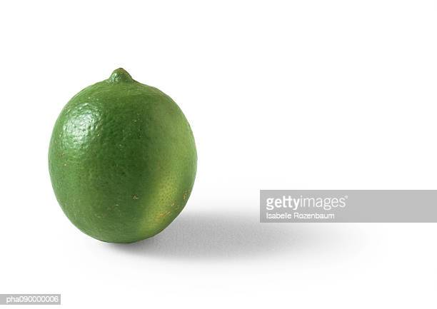 Lime, white background