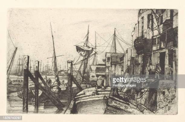 Limehouse, 1859. Artist James Abbott McNeill Whistler.