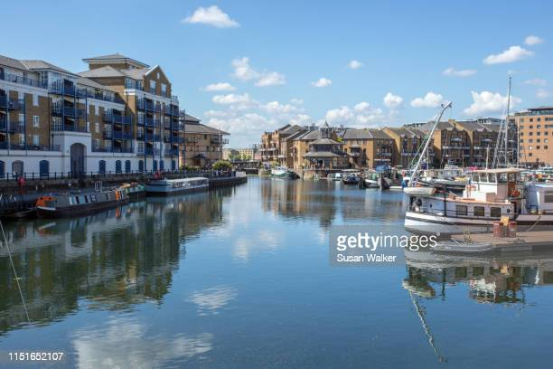 limehouse basin, london - london docklands stock pictures, royalty-free photos & images