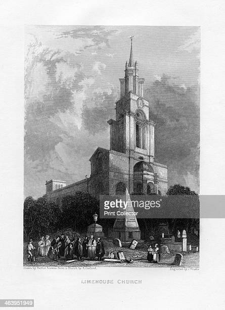 Limehouse Church London 19th century St Anne's Church Limehouse designed by Nicholas Hawksmoor was built between 1714 and 1725