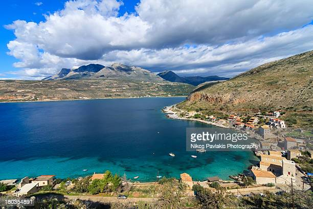 limeni village - peloponnese stock photos and pictures