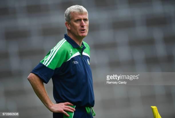 Limerick Ireland 10 June 2018 Limerick manager John Kiely during the Munster GAA Hurling Senior Championship Round 4 match between Limerick and...