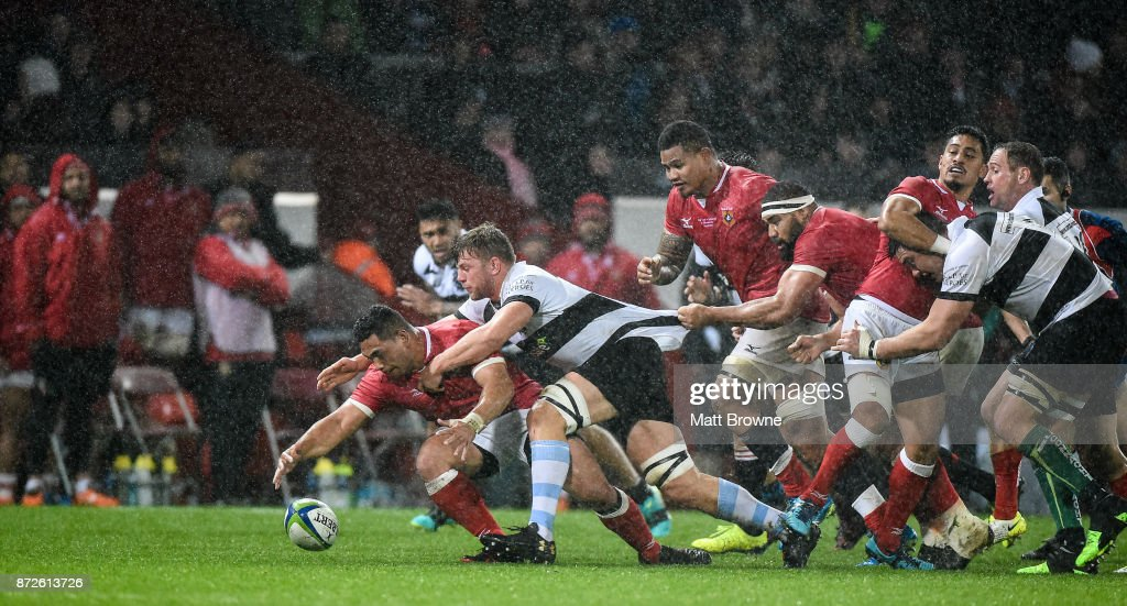 Limerick , Ireland - 10 November 2017; Sione Lea of Tonga ...