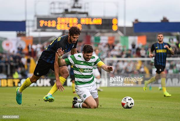Limerick Ireland 13 August 2016 Nadir Ciftci of Celtic FC in action against Andrea Ranocchi of Inter Milan during the International Champions Cup...