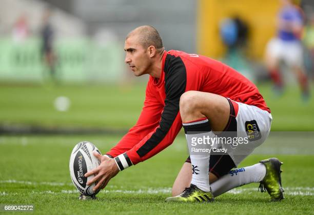 Limerick Ireland 15 April 2017 Ruan Pienaar of Ulster ahead of the Guinness PRO12 match between Munster and Ulster at Thomond Park in Limerick