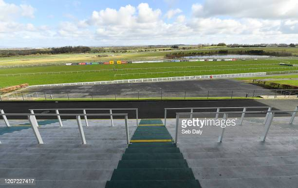 Limerick , Ireland - 15 March 2020; A view of the course and empty grandstand prior to racing at Limerick Racecourse in Patrickswell, Limerick.