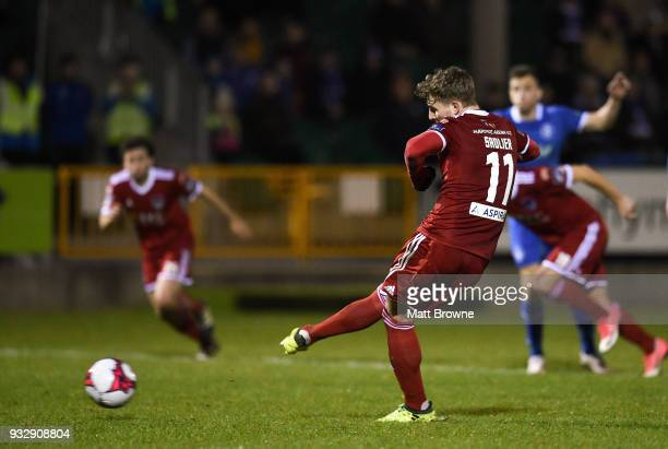 Limerick Ireland 16 March 2018 Kieran Sadlier of Cork City scores his side's goal from a penalty during the SSE Airtricity League Premier Division...