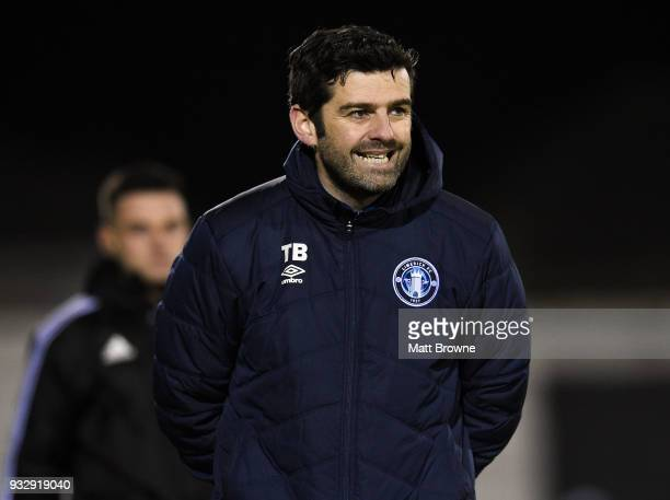 Limerick Ireland 16 March 2018 Limerick FC manager Tommy Barrett during the SSE Airtricity League Premier Division match between Limerick FC and Cork...