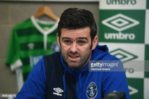 Limerick Ireland 17 January 2018 Newly announced Limerick FC manager Tommy Barrett during a press conference at the University of Limerick in Limerick
