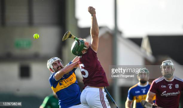 Limerick , Ireland - 21 November 2020; Patrick Maher of Tipperary in action against Fintan Burke of Galway during the GAA Hurling All-Ireland Senior...