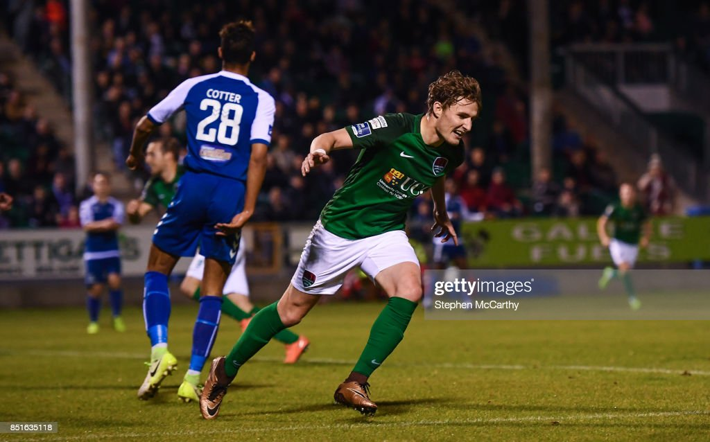 Limerick , Ireland - 22 September 2017; Kieran Sadlier of Cork City celebrates after scoring his side's first goal during the SSE Airtricity League Premier Division match between Limerick FC and Cork City at Markets Fields in Limerick.