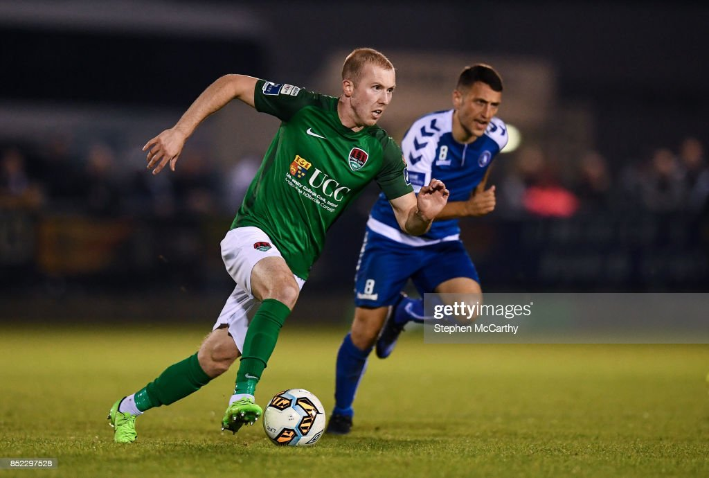 Limerick , Ireland - 22 September 2017; Stephen Dooley of Cork City in action against Shane Duggan of Limerick during the SSE Airtricity League Premier Division match between Limerick FC and Cork City at Markets Fields in Limerick.