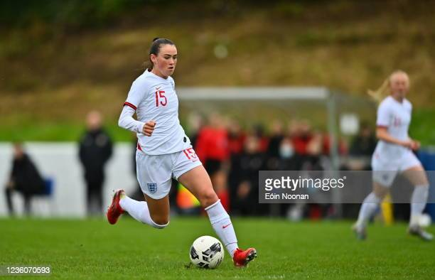 Limerick , Ireland - 23 October 2021; Grace Clinton of England on her way to scoring her side's first goal during the UEFA Women's U19 Championship...