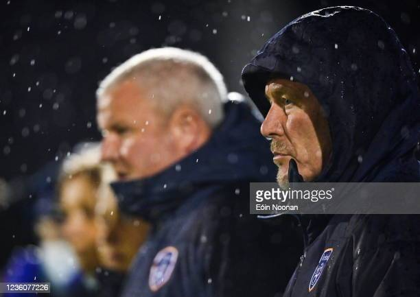 Limerick , Ireland - 23 October 2021; Republic of Ireland manager Dave Connell before the UEFA Women's U19 Championship Qualifier match between...