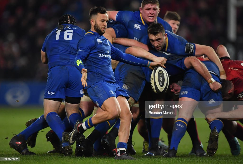 Limerick , Ireland - 26 December 2017; Jamison Gibson-Park of Leinster during the Guinness PRO14 Round 11 match between Munster and Leinster at Thomond Park in Limerick.