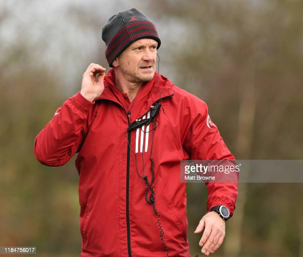 Limerick , Ireland - 26 November 2019; Munster forwards coach Graham Rowntree during Munster Rugby squad training at University of Limerick in...