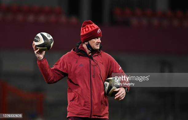 Limerick , Ireland - 26 October 2020; Munster forwards coach Graham Rowntree prior to the Guinness PRO14 match between Munster and Cardiff Blues at...