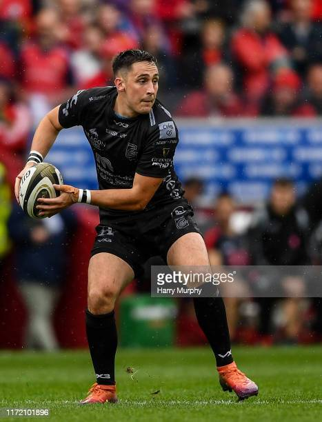 Limerick , Ireland - 28 September 2019; Sam Davies of Dragons during the Guinness PRO14 Round 1 match between Munster and Dragons at Thomond Park in...
