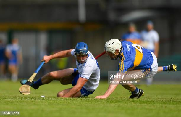 Limerick Ireland 3 June 2018 Patrick Curran of Waterford in action against Michael Cahill of Tipperary during the Munster GAA Senior Hurling...