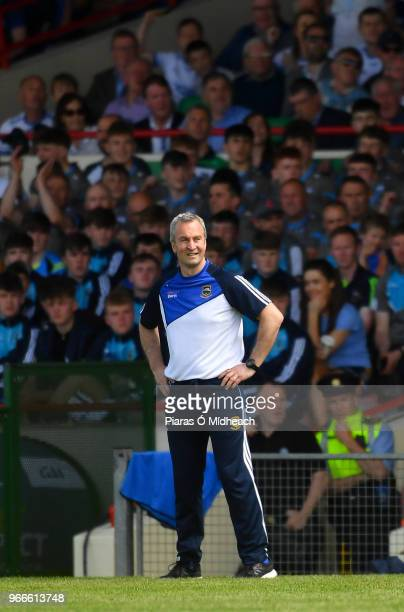 Limerick Ireland 3 June 2018 Tipperary manager Michael Ryan during the Munster GAA Senior Hurling Championship Round 3 match between Waterford and...