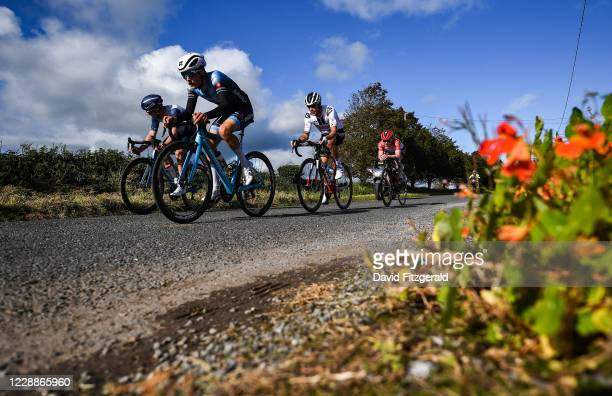 Limerick , Ireland - 3 October 2020; A general view of the peloton during the 2020 Cycling Ireland Senior Men Road Race Championships in Knockaderry,...