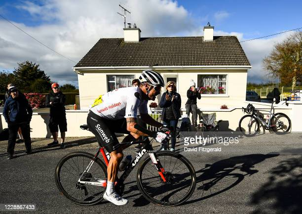 Limerick , Ireland - 3 October 2020; Nicholas Roche of Team Sunweb during the 2020 Cycling Ireland Senior Men Road Race Championships in Knockaderry,...