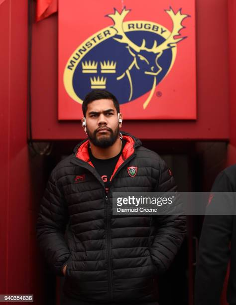 Limerick Ireland 31 March 2018 Romaine Taofifenua of RC Toulon prior to the European Rugby Champions Cup quarterfinal match between Munster and RC...