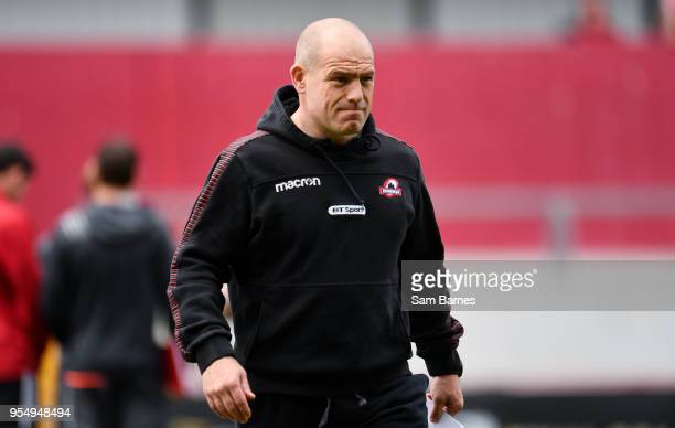 Limerick Ireland 5 May 2018 Edinburgh head coach Richard Cockerill ahead of the Guinness PRO14 semifinal playoff match between Munster and Edinburgh...