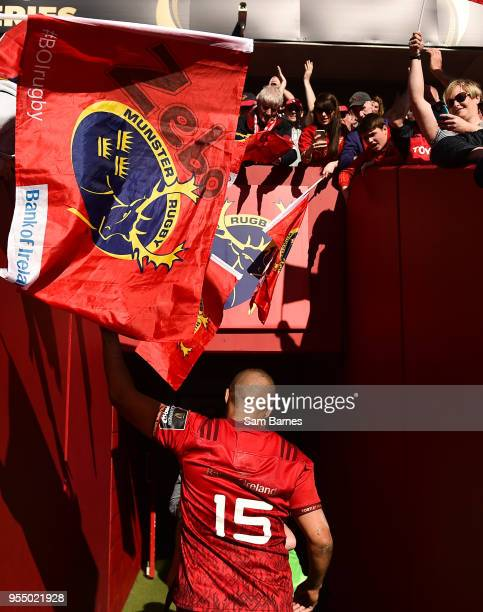 Limerick Ireland 5 May 2018 Simon Zebo of Munster leaves the field following the Guinness PRO14 semifinal playoff match between Munster and Edinburgh...